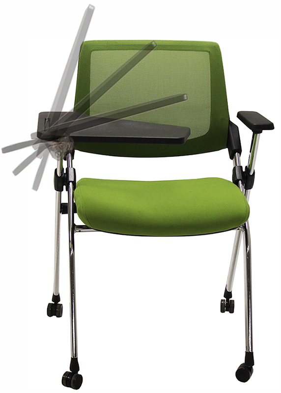 Tablet Arm Flip Seat Nesting Chair