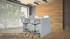 Team Collaborative Standing Height Meeting Table in White