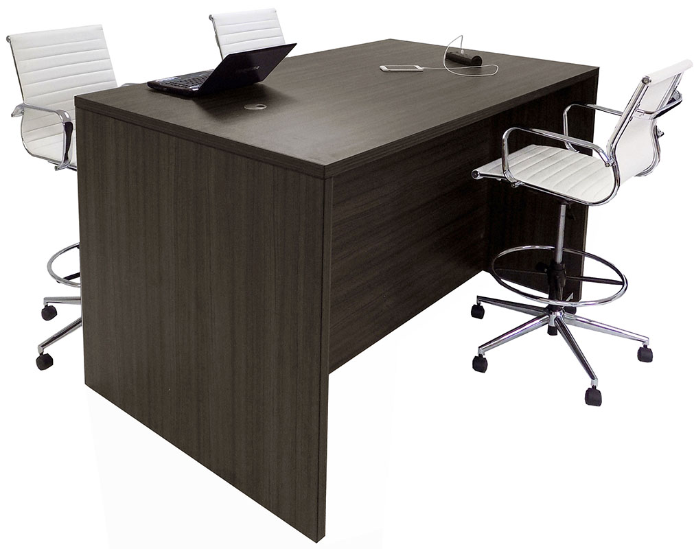 Team Standing Height Meeting Table In Charcoal - Standing height meeting table