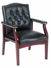 Traditional Arm Chair in Vinyl