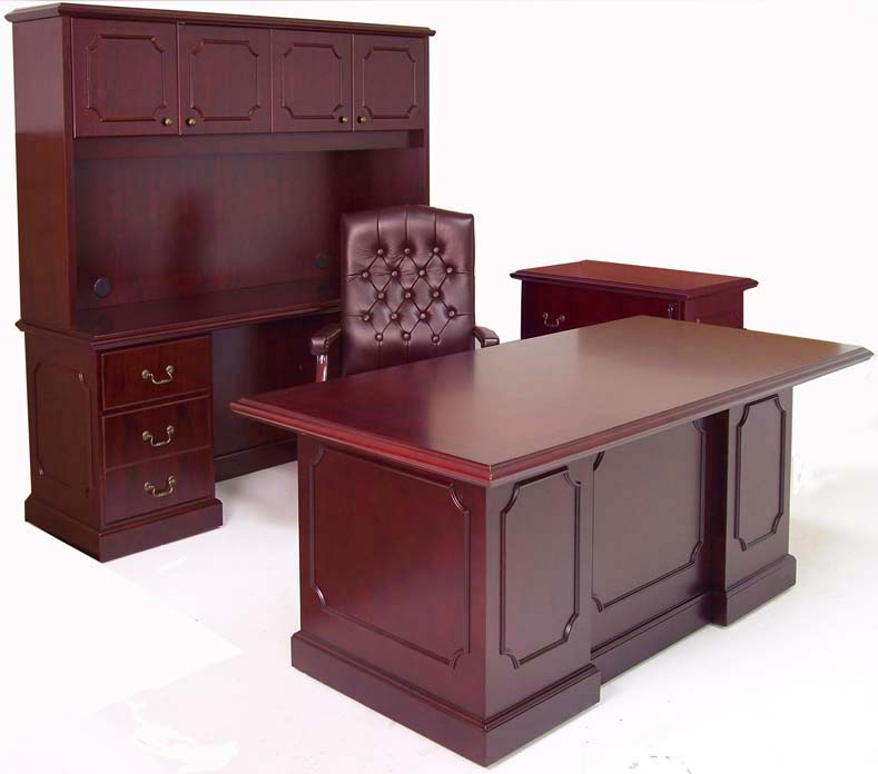 Traditional Dark Cherry 4 Piece Office Set At An Additional Savings