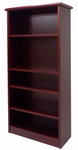 Traditional Heavy Duty Dark Cherry Veneer Bookcase