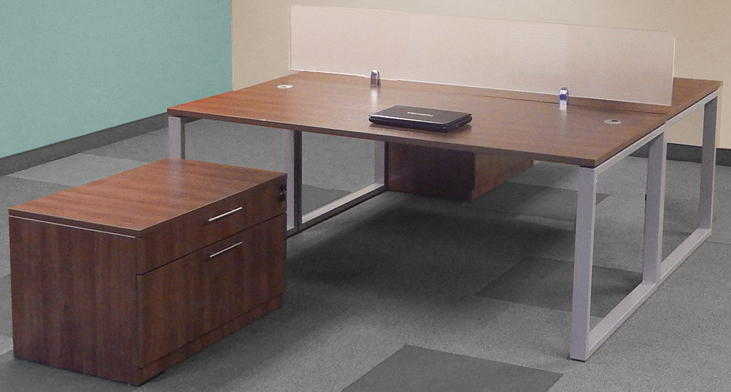 Trendspaces 2 Person Basic Benching Workstation