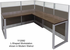 TrendSpaces Value Cubicle Series - 4 Person L-Shaped Cubicle