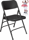 Triple-Brace Premium Steel Folding Chair - 300 lb Capacity