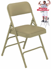 Triple Brace Vinyl Padded Steel Folding Chair - 300 lb Capacity