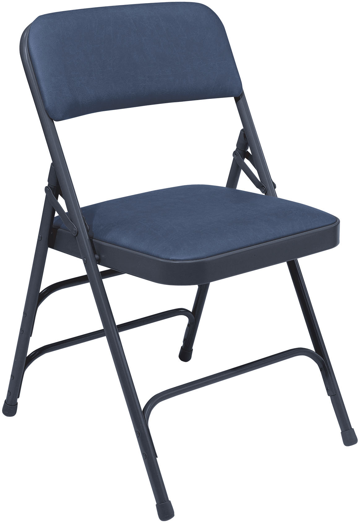 Triple Brace Vinyl Padded Steel Folding Chair 300 Lb