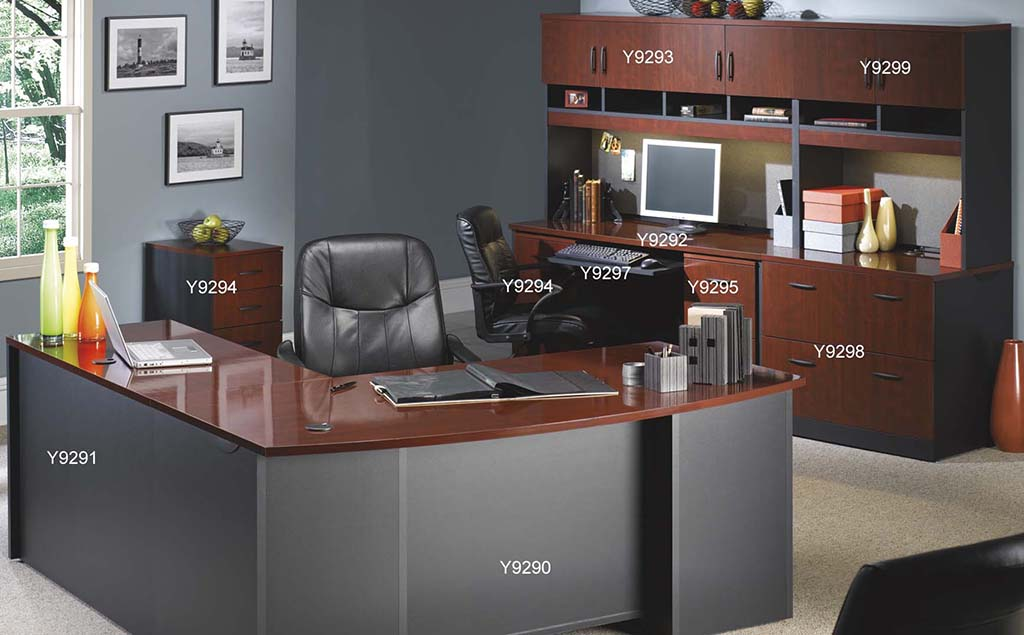 Via modular office desk collection 72 bow front desk shell for Office design concepts and needs