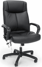 Vibrating Massage Leather Office Chair