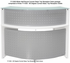 White 180° Half  Round Curved Glass Top Reception Desk