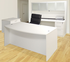 White 4-Piece Office Furniture Package