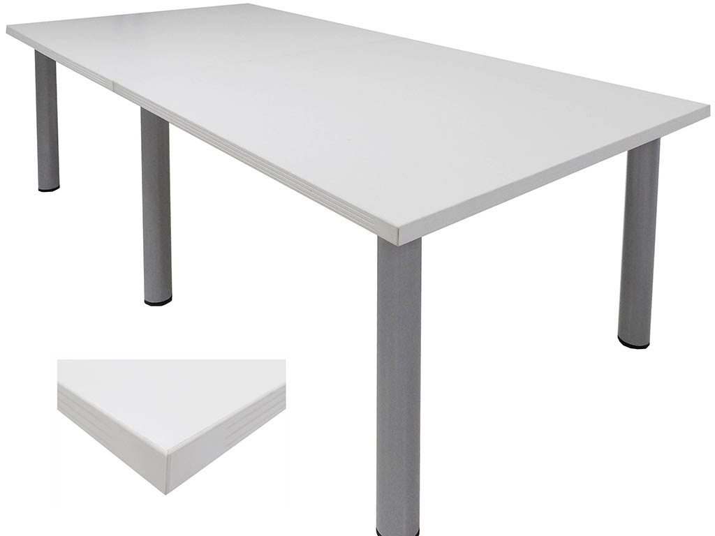 White Conference Tables Length See Other Sizes - White laminate conference table