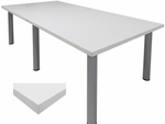 White Conference Tables - 8' Length- See Other Sizes