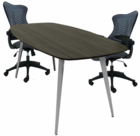 WorkTrend 6' Angle Leg Boat Shaped Conference Table - 7 Colors!