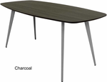 WorkTrend 6' Angle Leg Boat Shaped Conference Table - 6 Colors!