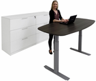 WorkTrend Boat-Shaped Adjustable Electric Lift Table/Desk