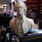 "Houdon 28"" White Thomas Jefferson Bust"