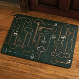 Antique Key Cushioned Comfort Mat