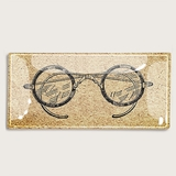 Antique Spectacles Decoupage Glass Tray