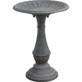 Antique Stone Fluted Birdbath