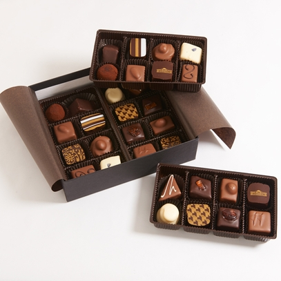 Assorted 32-Piece Monticello Chocolate