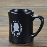 Black Jefferson Silhouette Mug