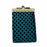 Black & Turquoise Card Holder