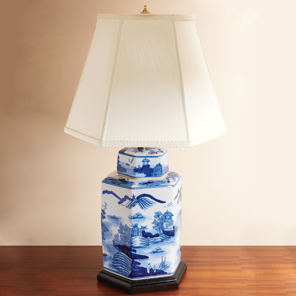 Lovely Blue Canton Lamp