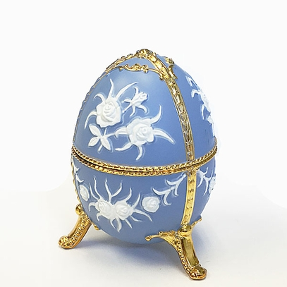 Blue Egg Shaped Music Box