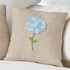 Blue Hydrangea French Knot Pillow