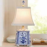 Blue Tea Caddy Lamp