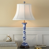 Blue & White Porcelain Column Lamp