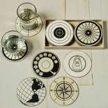 Boxed Circular Wood Coasters (Set 12)