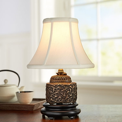 Brass Crane Accent Lamp
