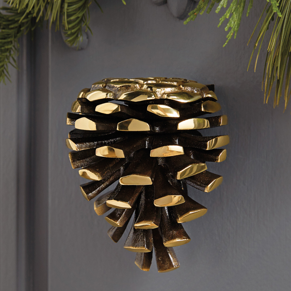 & Brass Pinecone Door Knocker