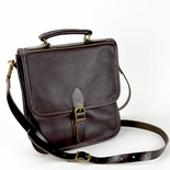 Brown Leather Convertible Backpack Messenger Bag