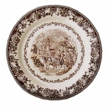Brown Toile Plate