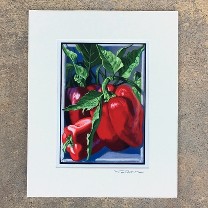 Bull Nose Pepper Matted Print