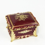 Burgundy Rectangular Music Box