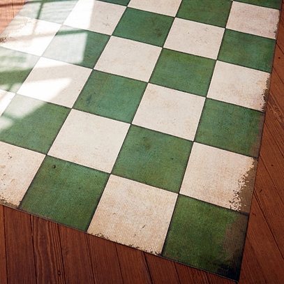 Checked Floorcloth