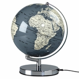 "Concrete Grey Lighted 10"" Diameter Globe"
