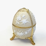 Cream Egg Shaped Music Box