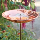 Copper Plated Dogwood Birdbath