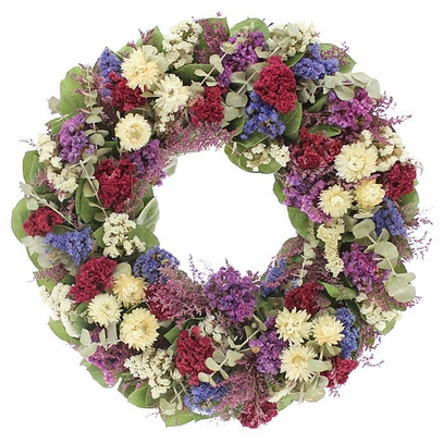 Dried Cockscomb and Strawflower Wreath 18