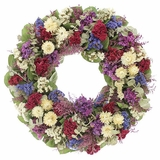 "Dried Cockscomb and Strawflower Wreath 18""D"