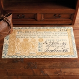 Early American Currency Vinyl Floor Cloth