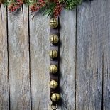 Estate Leather and Solid Brass Sleigh Bells