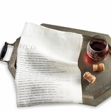 European Wine Varietals Linen Towel