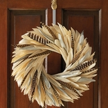 Feather & Corn Husks Wreath