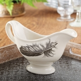 Quail Feather Sauce Boat